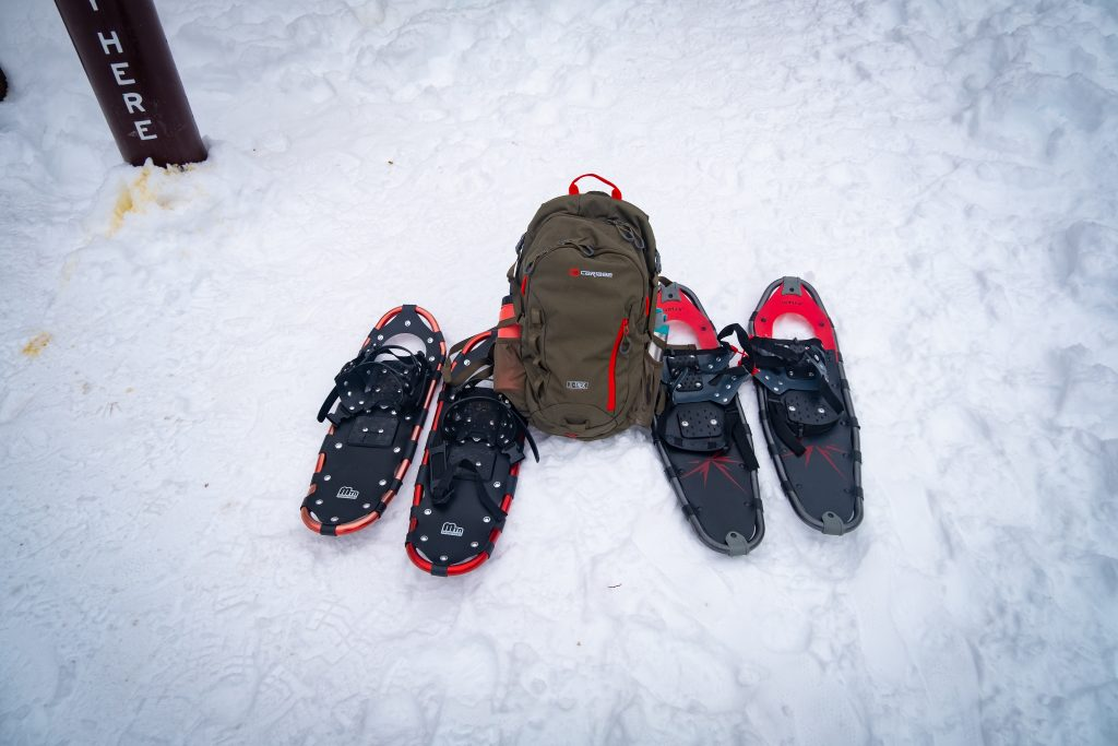 Winter snowshoe adventure near Steamboat Springs Colorado
